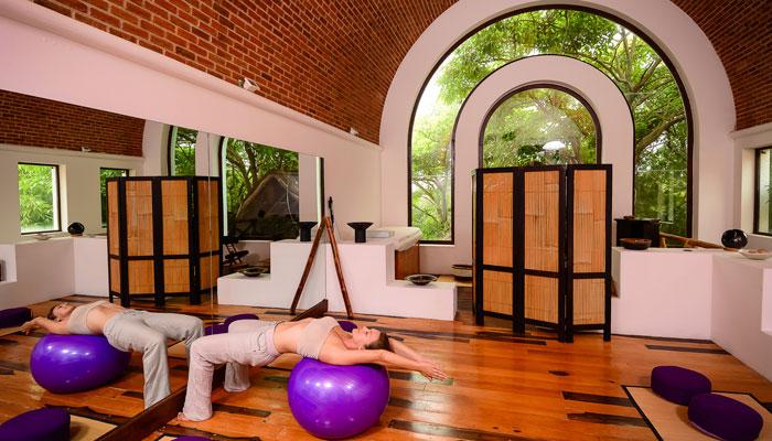 Salón de Yoga en Hotel Casa de los Sueños
